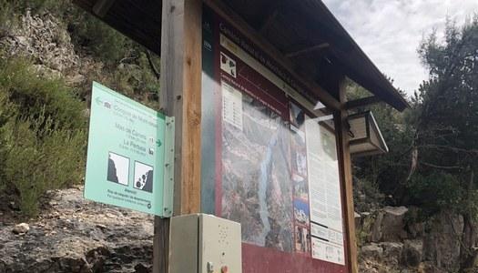 Instal·len un polsador per emergències al congost de Mont-rebei