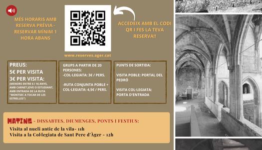 L'Ajuntament d'Àger estrena un nou sistema de reserves online per visitar la Col·legiata de Sant Pere i el nucli antic de la vila