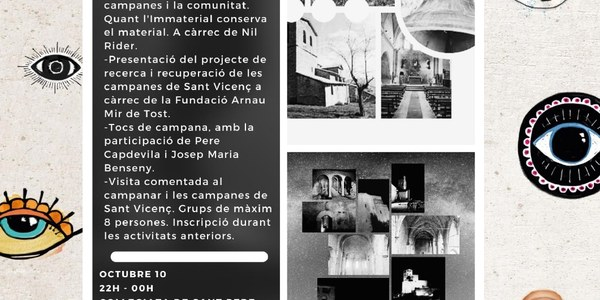 Cartell de les XXX Jornades Europees de Patrimoni a Àger.
