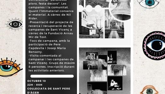 La Col·legiata de Sant Pere d'Àger i l'església de Sant Vicenç celebren les Jornades Europees de Patrimoni
