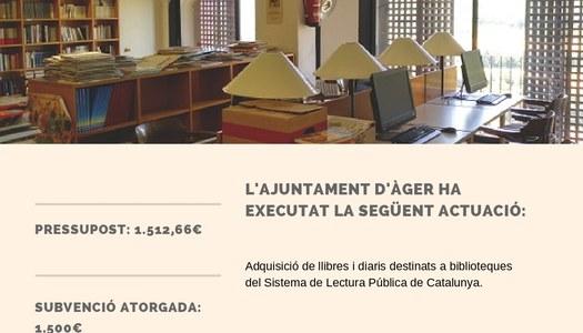 Subvenció per adquisició de llibres i diaris per a la biblioteca